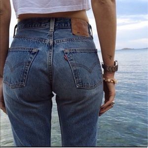 Vintage style Levis mom jeans 501